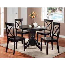 Tall Dining Room Sets Home Styles 5 Piece Black Dining Set 5178 318 The Home Depot