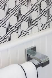my secret weapon for wallpapering your bathroom driven by decor love this black and white textured cork wallpaper great tips in this post about hanging