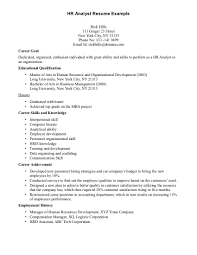 Human Resources Resume Objective Sample Human Resources Assistant Resume Best Resume Example
