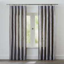 Black And White Curtain Designs Curtain Panels And Window Coverings Crate And Barrel