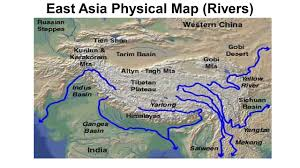 Map East Asia by East And Southeast Asia Map Political Maps Physical Maps Ppt