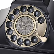 home and office decor amazon com lnc black classic style rotary dial desk telephone