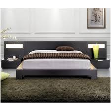bedroom modern platform bed with nightstands regaling