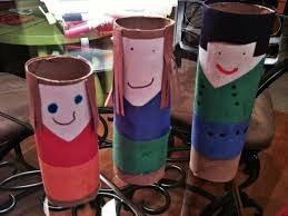 from balancingmama empty toilet paper rolls art time