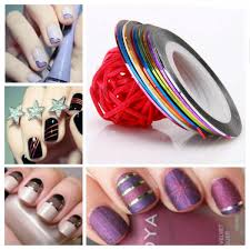 10 color striping tape line nail art decoration sticker health