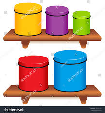 kitchen canister set five multi color stock vector 332291243 kitchen canister set five multi color food storage containers with lids in small medium