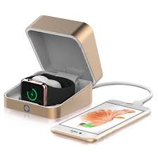 charging box cooper apple watch power box charger case power bank 3000 mah
