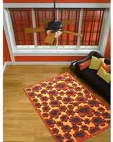 Brown And Orange Area Rug Synthetic Orange Area Rugs Bhg Com Shop