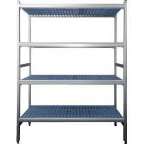 etagere aluminium cuisine rayonnage aluminium anodisé clayette polypropylène 5 niveaux p