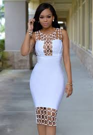 chic couture online naples white gold decor luxe bandage dress
