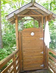 Outdoor Shower Ideas by Bathroom Wooden Traditional Outdoor Shower Enclosure With Wooden
