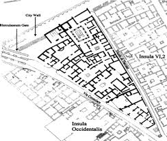 roman insula floor plan roman food refuse urban archaeobotany in pompeii regio vi insula