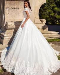 wedding dresses fluffy zyllgf bridal fluffy v neck cap sleeve country wedding