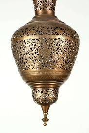 Hanging Light Fixture by Moorish Brass Hanging Light Fixture For Sale At 1stdibs