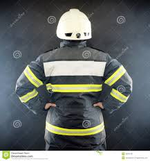 back view of a fireman royalty free stock photography image