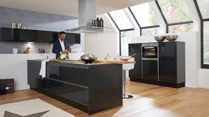 hochglanz küche raumdesign ohne kompromisse culineo g345 grifflos grafit