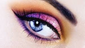 cute beautiful eye make up close up colors macro hd quality