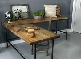 Wood Desk Accessories Rustic Wood Desk Rustic Industrial Desk Industrial L Shaped Desk