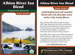 albion river inn mendocino coast thanksgiving coffee company