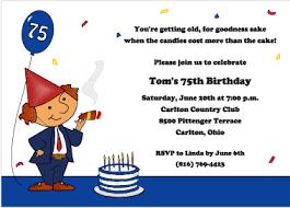 turning 75th cigar theme birthday invitations