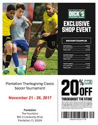 welcome to the 2017 plantation thanksgiving classic plantation fc