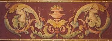 horses ornamental frieze with gilt fresco the ancient home