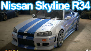 nissan r34 fast and furious need for speed 2016 2 fast 2 furious skyline gt r r34 build hd