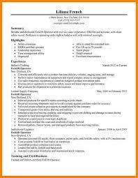 Forklift Driver Resume Template 6 Operator Resume Sample Address Example