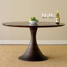 dining room round pedestal dining table with leaf with pedestal
