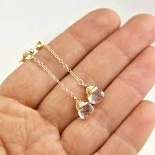stud earrings with chain gold birthstone chain stud earrings by gaamaa