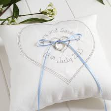 wedding pillow rings personalised wedding ring cushion by milly and pip