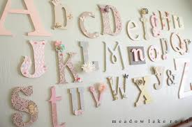 Nursery Wall Decor Letters 57 Letters Baby Room Personalized Name Block Letters Baby Nursery