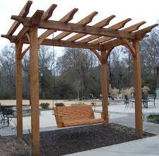 pergola u0026 swing by fuzzydove lumberjocks com woodworking