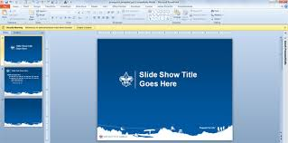 boy scouts have their own powerpoint template designs