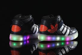 Kids Light Up Shoes Adidas Light Up Navy Blue Shoes For Kids Multicolored Led Lighting 3 Jpg
