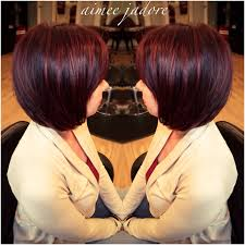 cherry jane with short haircut dark cherry cola hair for my client today find me on instagram