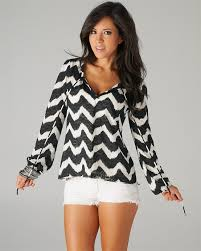black and white blouses simply fabulous black and white chevron style tie blouse