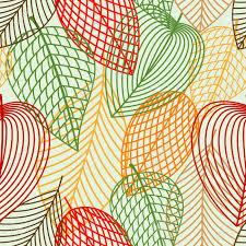 resuma las hojas otoñales patrón con hojas de color rojo verde