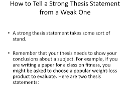 warm up what are the keys to a great thesis statement extension