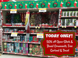 today only 50 open stock boxed ornaments tree garland and
