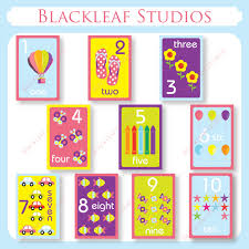 numbers flash cards 1 to 10 printable for toddlers primary