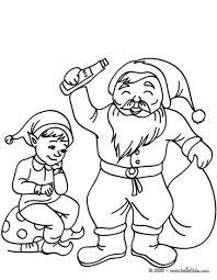 santa claus elf juggler coloring pages hellokids