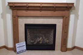 handmade craftsman style fireplace surround by custom woodgrains