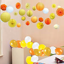 Paper Hanging L Kubert Paper Hanging Decoration Set For Birthday Baby