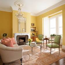 yellow living rooms window spaces and walls