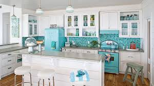 blue and green kitchen 10 most popular kitchens coastal living