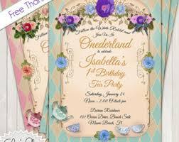 onederland tea party birthday invitation 1st birthday tea party