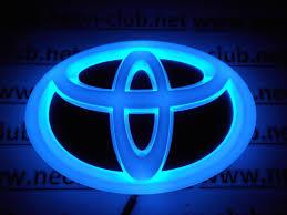 toyota logo 4d toyota blue neon logo