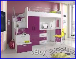 Bunk Bed With Storage And Desk New Bedroom Set Furniture Children Bunk Bed Storage With