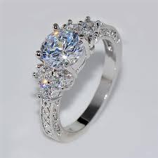men wedding ring splendent white stylish jewelry women men wedding ring anel